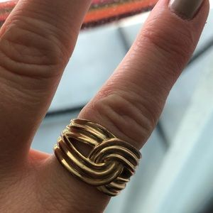 BANANA REPUBLIC gold-color ring (size 7)